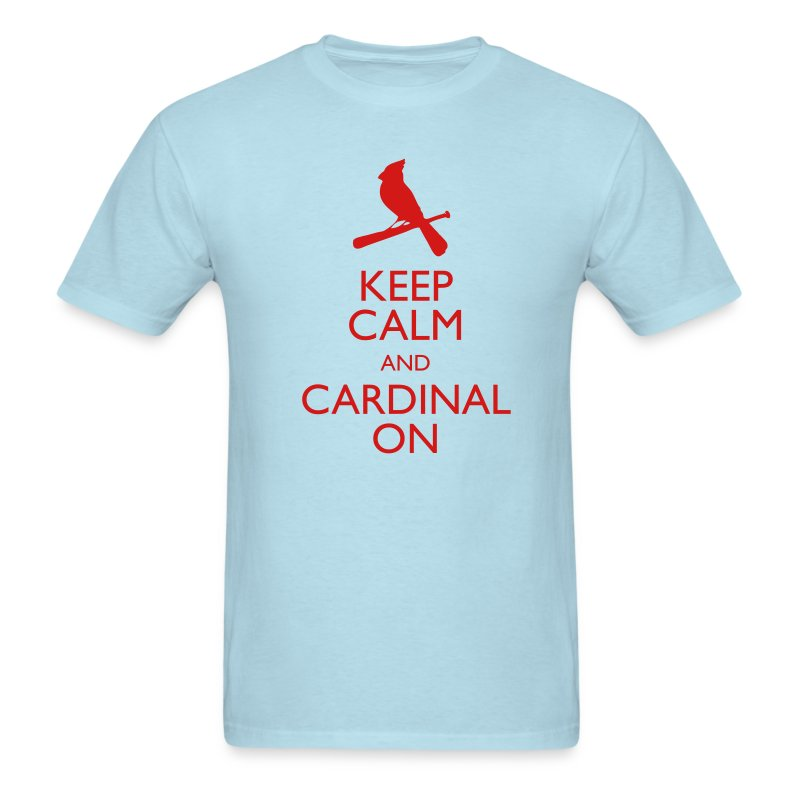 Keep Calm and Cardinal On - Blue - Men's T-Shirt