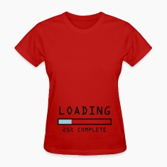 "Pregnancy announcement t-shirt ""Loading 25%"""