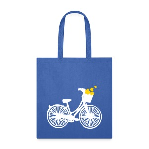 Flower Bicycle Tote Bag - Tote Bag