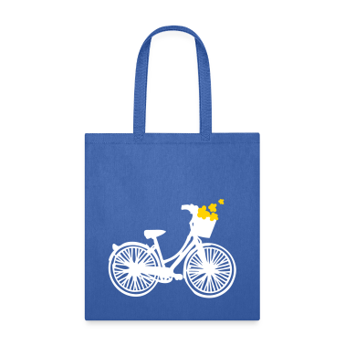 Flower Bicycle Tote Bag