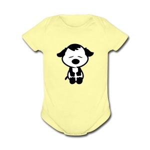 Sad face Puppy short sleeve One Piece - Short Sleeve Baby Bodysuit