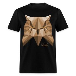 Men's Wise Owl Standard weight t-shirt  - Men's T-Shirt