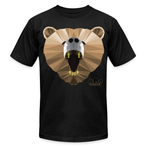 Hungry Bear Men's T-Shirt by American Apparel  - Men's T-Shirt by American Apparel