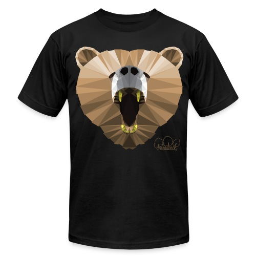 Hungry Bear Men's T-Shirt by American Apparel  - Men's  Jersey T-Shirt
