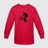 Cool BMX Rider  Kids' Shirts - Kids' Long Sleeve T-Shirt