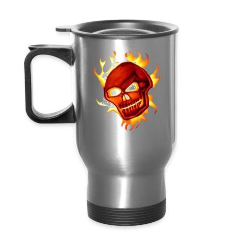 Voodoo Skull logo - Travel Mug