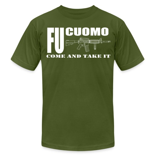 FU Cuomo, Evil Black Rifle Edition, Military Green - Men's Fine Jersey T-Shirt