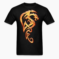 Golden Tribal Dragon T-Shirts