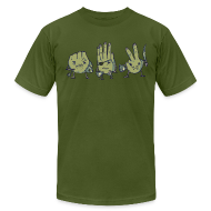T-Shirts ~ Men's T-Shirt by American Apparel ~ Rock Paper Scissors Tee