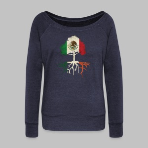 Mexican Irish Roots Women's Wide Neck Sweatshirt - Women's Wideneck Sweatshirt