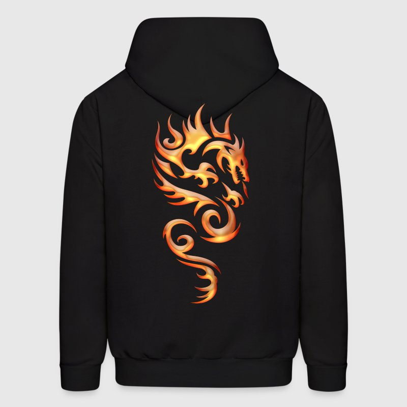 Tribal Fire Dragon Hoodies - Men's Hoodie
