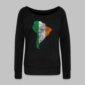 USA Irish Women's Wide Neck Sweatshirt - Women's Wideneck Sweatshirt