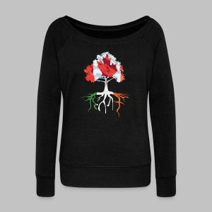 Canada Irish Roots Women's Wide Neck Sweatshirt - Women's Wideneck Sweatshirt