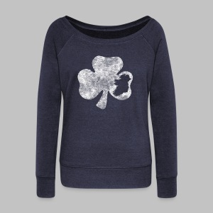 Ireland Shamrock Women's Wide Neck Sweatshirt - Women's Wideneck Sweatshirt