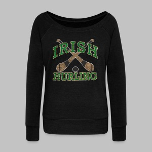 Irish Hurling Women's Wide Neck Sweatshirt - Women's Wideneck Sweatshirt