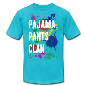 Pajama Pants Clan Teal - Men's T-Shirt by American Apparel