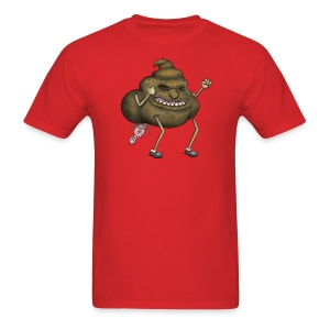 A Poo Taking a Human - Men's T-Shirt