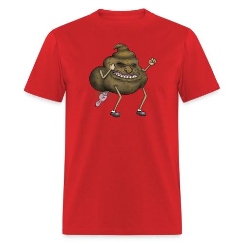 A Poo Taking a Human - Men's T-Shirt