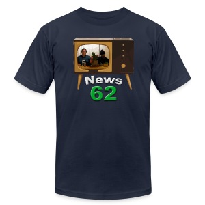 News 62 Tv shirt - Men's T-Shirt by American Apparel