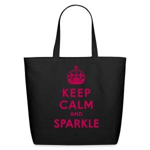 Keep Calm Diamond Diva Tote - Eco-Friendly Cotton Tote