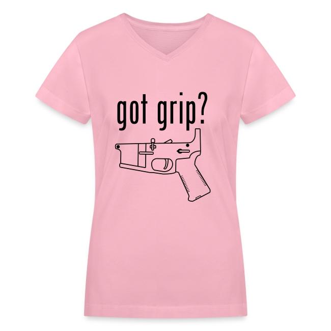 got grip? Girl's V-Neck