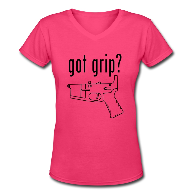 got grip? Girl's V-Neck - Women's V-Neck T-Shirt