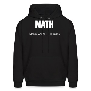 mental abuse to humans mens t-shirt - Men's Hoodie