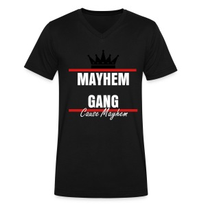 Mayhem Gang Tee - Men's V-Neck T-Shirt by Canvas