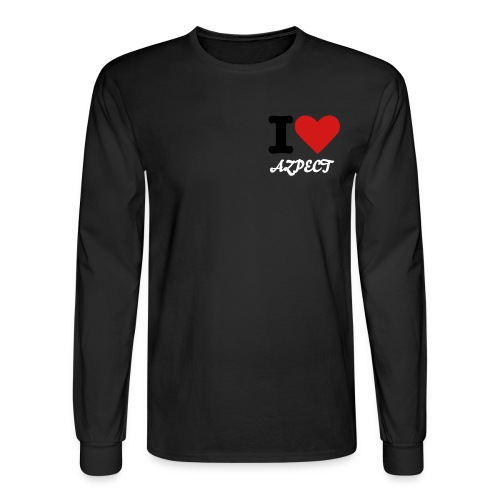 I Heart Azpect Long Sleeve T-Shirt Black - Men's Long Sleeve T-Shirt