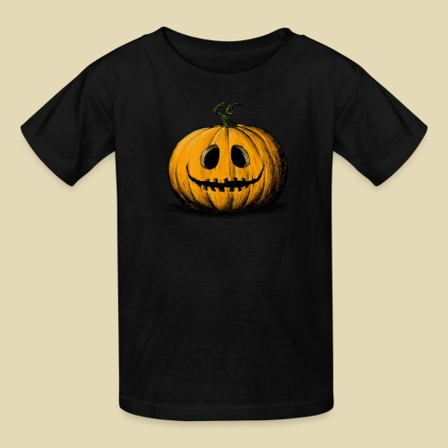 Happy Halloween Jack O'Lantern Kid's Black Tshirt - Kids' T-Shirt