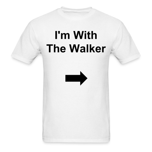I'm with The Walker - Men's T-Shirt