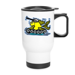 Tank Fish with a cannon, FishTank - Travel Mug