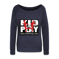 Long Sleeve Shirts ~ Women's Wideneck Sweatshirt ~ Kid N Play