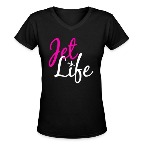 Jet Life - Women's V-Neck T-Shirt