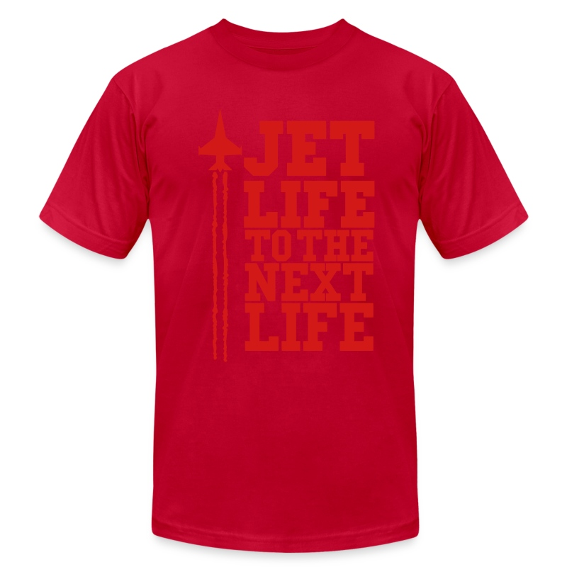 JET LIFE TO NEXT LIFE  eps - Men's T-Shirt by American Apparel