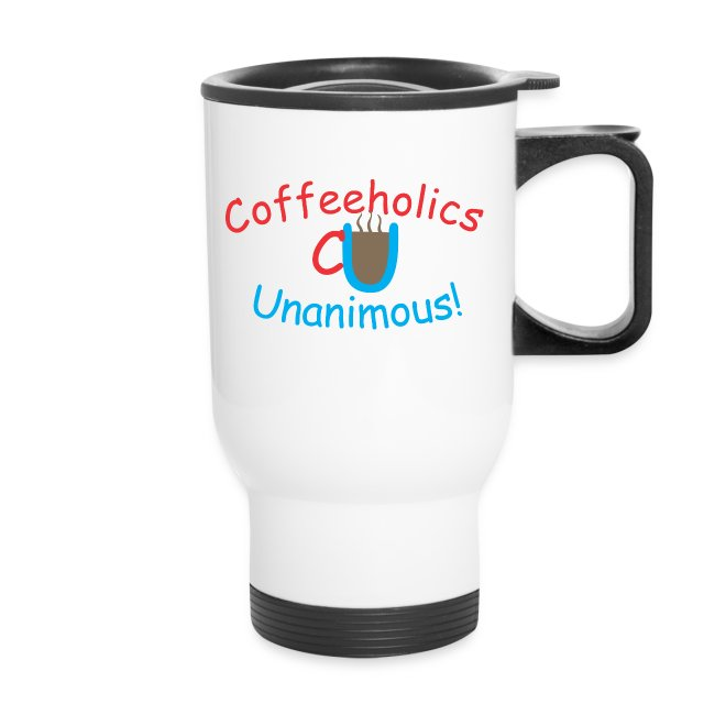 CU coffee logo travel mug