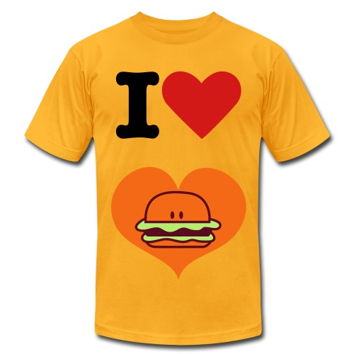 I Love Hamburger - Men's Fine Jersey T-Shirt