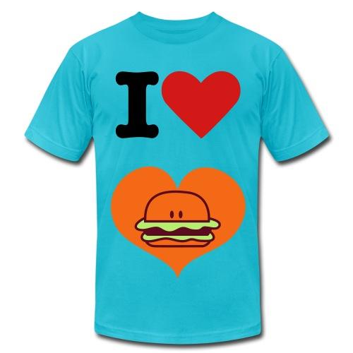 I Love Hamburger - Men's  Jersey T-Shirt