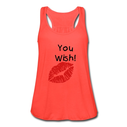 You Wish Coral - Women's Flowy Tank Top by Bella