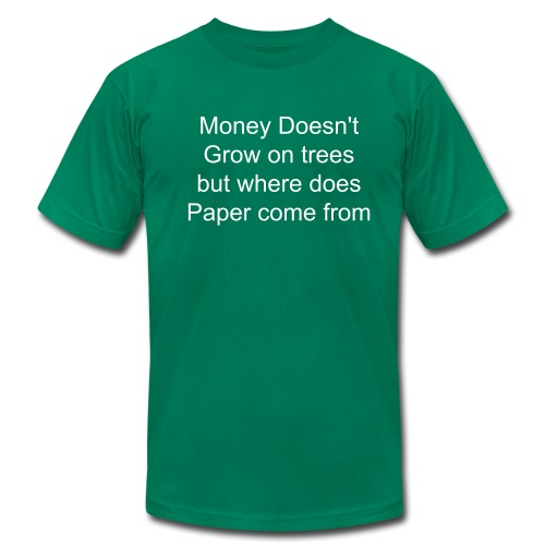 Where does paper come from( Mens t-shirt - Men's Fine Jersey T-Shirt