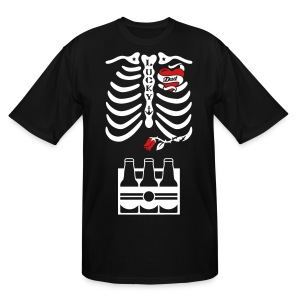 Tattoo Dad X-ray Skeleton / 6 pack - Men's Tall T-Shirt