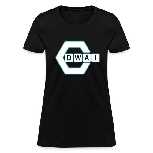 DWAI Women's Standard Weight T-Shirt White Logo - Women's T-Shirt