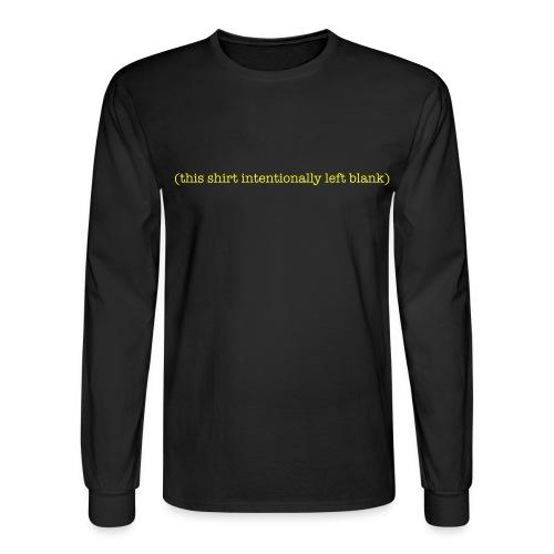 blank shirt - Men's Long Sleeve T-Shirt