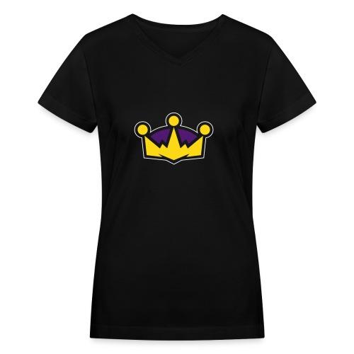 Classic Crown - Women's V - Women's V-Neck T-Shirt