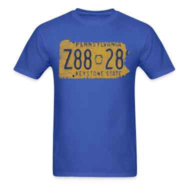 Pennsylvania State License Plate T-Shirts