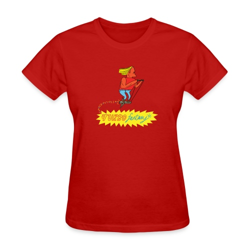 Turbo Fantasy - Turbo flying above logo - Women's T-Shirt