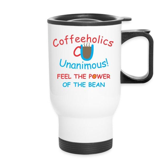 CU power of bean travel mug