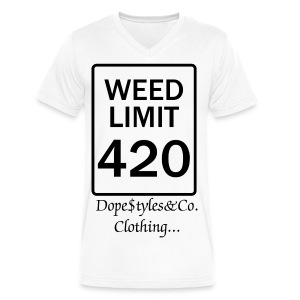 4/20 - Men's V-Neck T-Shirt by Canvas