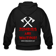 Zip Hoodies & Jackets ~ Men's Zip Hoodie ~ Zombies are Waiting Hoodie