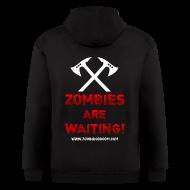 Zip Hoodies & Jackets ~ Men's Zip Hoodie ~ Zombies are Waiting Hoodie